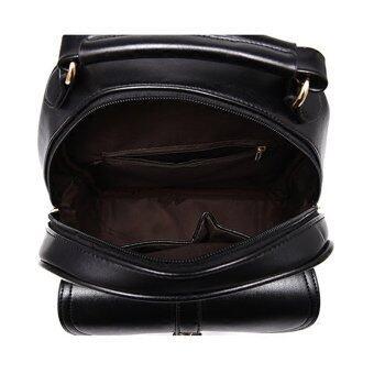 Maylin กระเป๋าเป้สะพายหลัง กระเป๋าเป้เกาหลี กระเป๋าเป้หนัง ผู้หญิง รุ่น MP-064 (สีดำ) (image 4)