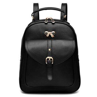 Maylin กระเป๋าเป้สะพายหลัง กระเป๋าเป้เกาหลี กระเป๋าเป้หนัง ผู้หญิง รุ่น MP-064 (สีดำ) (image 1)