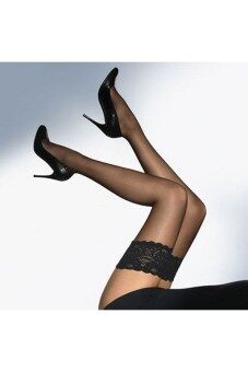 Harga Attracitve Lace Stockings Sexy Thigh High Stockings Black