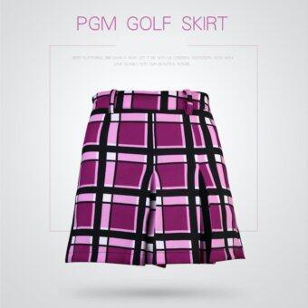 EXCEED กระโปรงกอล์ฟสำหรับสุภาพสตรี PGM PINK COLOUR (QZ007) สีชมพู