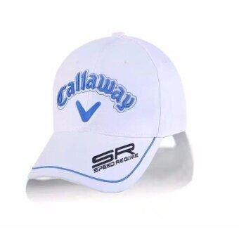 GOLF CAP Clip with Magnetic Ball Marker หมวกกอล์ฟสีขาว แถมมาร์คเกอร์ในตัว