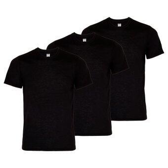 ASSIGN เสื้อคอกลม ชาย สีดำ แพ็ค 3 ตัว
