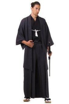 Princess of asia ชุดฮากามะพร้อมเสื้อคลุมฮาโอริ (สีดำ)