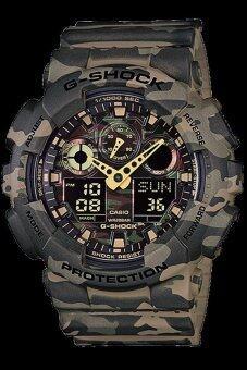 Casio G-Shock นาฬิกาข้อมือผู้ชาย สีน้ำตาล รุ่น GA-100CM-5ADR
