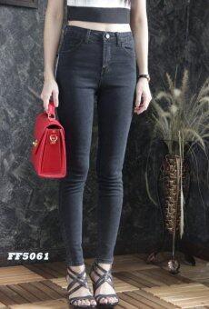 Platinum Fashion กางเกงยีนส์ขายาวเอวสูง ทรงสกินนี่ รุ่นFF5061