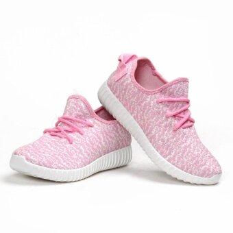 POCA SHOES Ruby sneakers Fashion รองเท้า ลำลอง ผ้าใบ ผู้หญิง แฟชั่น ราคาถูกสวยๆ กันลื่น เสริมส้น Sport Girl รุ่น PS-LightPink/White