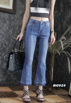 Platinum Fashion กางเกงยีนส์ขายาวเอวสูง ขาม้า รุ่นRG929