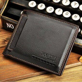 MATTEO กระเป๋าเงิน กระเป๋าสตางค์ ผู้ชาย แยกชิ้น BOGESI สีน้ำตาล