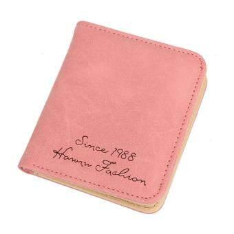 แฟชั่นมินิเพียวเสียเหรียญกระเป๋าดูแลบัตร Organizer กุญแจกล่องใส่นามบัตร (สีชมพู)