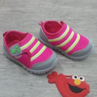 Alice Shoe รองเท้าเด็ก รองเท้าแฟชั่นแบบสวม เด็กผู้หญิง&เด็กผู้ชาย รุ่น CVS019-P (สีชมพู)