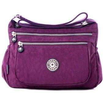 RICHCOCO กระเป๋าสะพาย เนื้อผ้าไนลอนกันน้ำ Waterproof Nylon Handbag Shoulder (Violet)