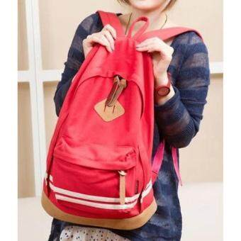 HS กระเป๋าเป้สะพายหลัง ผ้า Canvas ผสมรุ่น HSWB0006 (Red)