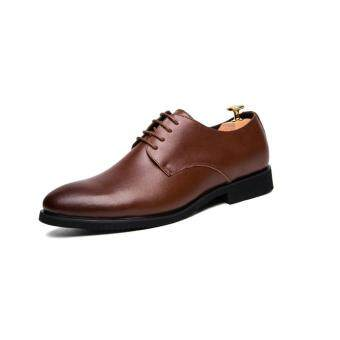 Harga High Quality British Style Slip-on Business Men Shoes Wedding Shoes, Men Dress Shoes Wingtip - intl