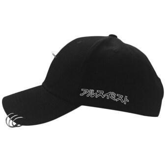 โอนิว Streetnovelty แหวนวงปักผ้าสำหรับบุรุษ และหมวกหมวกเบสบอลฮิปฮอปโค้งสีดำกับ 3 ห่วง