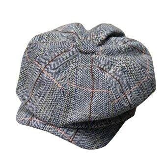คลาสสิกตลอดไปแท็กซี่ Gatsby หมวกกอล์ฟหมวกผ้าขนสัตว์ทวีดแบนเถาหมวกเบเรต์รถสีเทา