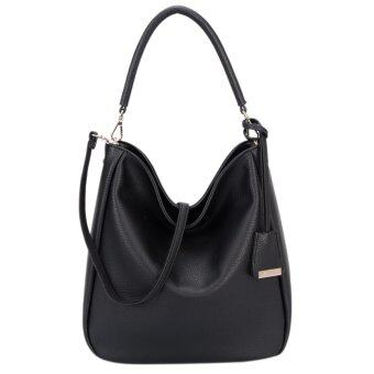 DAVIDJONES Women Synthetic Leather Shoulder Bag Hobo Bag - intl