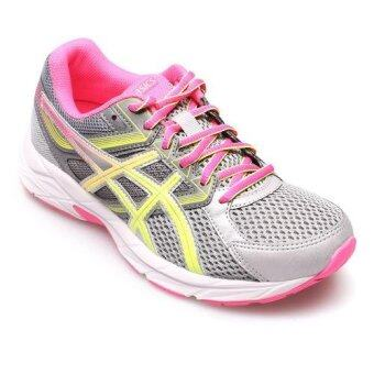 ASICS WOMEN รองเท้าผ้าใบ ผู้หญิง รุ่น GEL CONTEND 3 - T5F9N9607 (STEEL GREY/SAFETY YELLOW/HOT PINK)