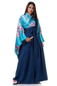 Princess of asia ชุดอนนะบากามะ ชุดฮากามะผู้หญิง (สีฟ้า)