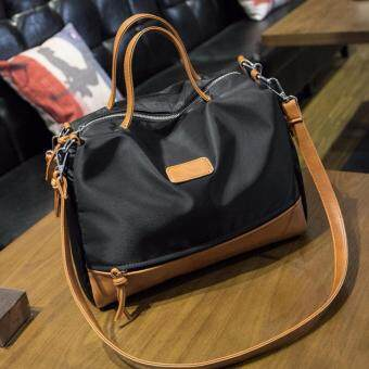 Good things For u กระเป๋าสะพายข้างแฟชั่นเกาหลีผู้หญิง หนัง PU รุ่น 0053HB - สีน้ำตาลดำ