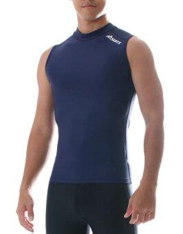 FITSUITS เสื้อแขนกุด กระชับกล้ามเนื้อ รัดกล้ามเนื้อ SPORTS COMPRESSION ชุดกีฬา ออกกำลังกาย ว่ายน้ำ วิ่ง ฟิตเนส ฟุตบอล รุ่น ORIGINAL FS-S003 สีกรมท่า NAVY BLUE