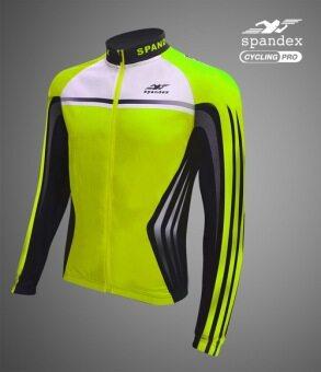 Spandex เสื้อปั่นจักรยานแขนยาว CL001 สีเขียว