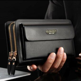 Harga Men Clutch Bags Man Business Tote Bags Mobile Wallets 2 Color - intl
