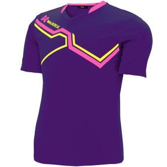 WARRIX SPORT เสื้อฟุตบอลพิมพ์ลาย WA-1516 ( สีม่วง-ชมพู )