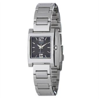 Casio นาฬิกาข้อมือ รุ่น LTP-1283D-1A - Silver/Black