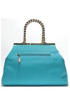 PhoeBe Bags กระเป๋าถือ กระเป๋าแฟชั่น พร้อมสายสะพาย รุ่น PU Leather Handbags 003 (สีฟ้า)