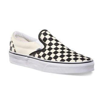 Vans รองเท้า รุ่น Classic Slip-On (Black And White Checker/White)