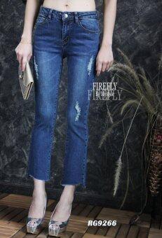 FIREFLY กางเกงยีนส์ขายาว แต่งขาด ปลายขาด รุ่น RG9266blue