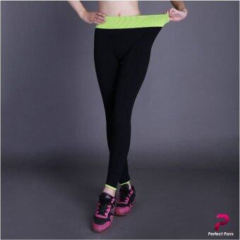 Perfect Pairs Perfect Leggings สีเขียว - กางเกงออกกำลังกาย โยคะ เลกกิ้งขายาว ยืดหยุ่นสูง เย็บเป้าสามเหลี่ยม
