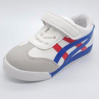 Alice shoe รองเท้าผ้าใบ แฟชั่นเด็กผู้ชาย และ เด็กผู้หญิง รุ่น SKL100L-W(สีขาว)