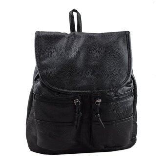 Marino กระเป๋า กระเป๋าสะพายสีดำ กระเป๋าเป้สะพายหลังหนัง PU No.1190 - สีดำ
