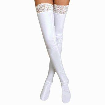 Harga EOZY Sexy Women Long Tube Stocking Lace Thigh High Stockings (White) - intl