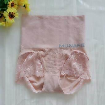 MUNAFIE กางเกงใน กระชับสัดส่วน ลดพุง เก็บหน้าท้อง (สีเนื้อ) - 1 ตัว