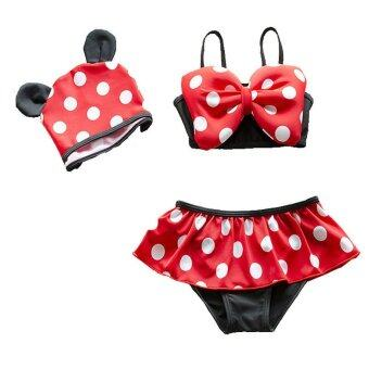 Harga Kids Little Girls Bikini Swimwear Children Girl Swimsuit Swimming Wear Bathing Suit - Red