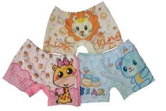 DD Kids กางเกงในขาสั้นเด็ก พิมพ์ลายเลเบลวีด้า สำหรับเด็กอายุ 1- 3 ปี (3 ตัว)