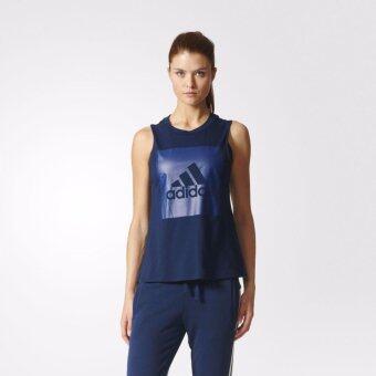 ADIDAS เสื้อ แขนกุด อาดิดาส Women Essentials SL Logo Tee S97225 NVY(790)