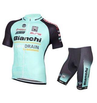 cbike ชุดปั่นจักรยาน New 2016 รุ่นใหม่ล่าสุด Bianchi ชุดโปรทีมจักรยาน ชุดขี่จักรยาน