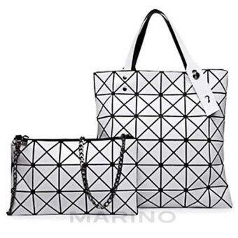 Marino กระเป๋า กระเป๋าสะพาย กระเป๋าสะพายข้างสำหรับผู้หญิง No.0180 - White