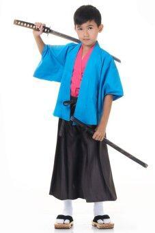 Princess of Asia ชุดฮากามะเด็ก พร้อมเสื้อคลุมฮาโอริ (สีฟ้า/ดำ)
