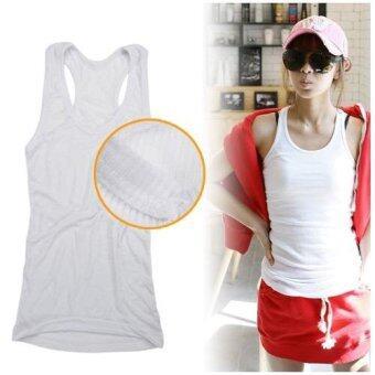 KGoogGig เสื้อกล้ามผ้าคอตตอน สีขาว เนื้อนิ่มใส่สบาย(Int: One size)