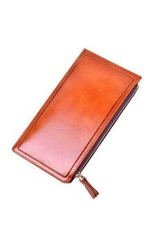 Matteo กระเป๋าเงินใบยาว รุ่น Double Zip B0863 ( สีส้ม )