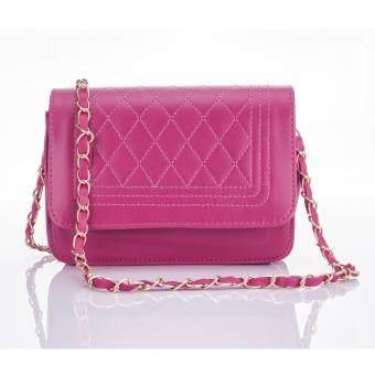 Premium Bag กระเป๋าแฟชั่น กระเป๋าสะพายข้าง รุ่น PB-002 (สีชมพู)