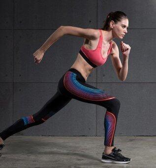 Vansydical กางเกงกระชับกล้ามเนื้อ รุ่น Power speed (ดำ-ส้ม)