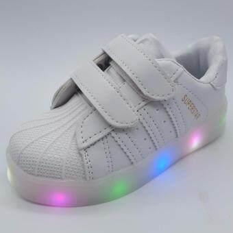 Alice shoe รองเท้าผ้าใบ แฟชั่นเด็กผู้ชาย และ เด็กผู้หญิง รุ่น SKL118-W (สีขาว)