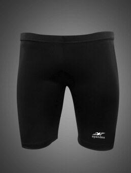 Spandex S001SF กางเกงรัดกล้ามเนื้อขาสั้น สีดำ
