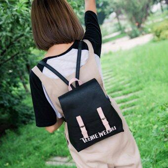 Little Bag กระเป๋าเป้เกาหลี กระเป๋าสะพายหลังผู้หญิง กระเป๋าแฟชั่น backpack women รุ่น LP-141(สีดำ)