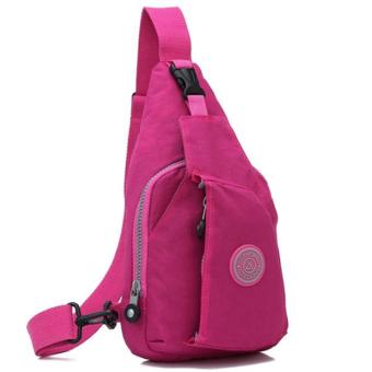 RICHCOCO กระเป๋าเป้ สายเดี่ยว Nylon leisure Backpack K03_02-Pink